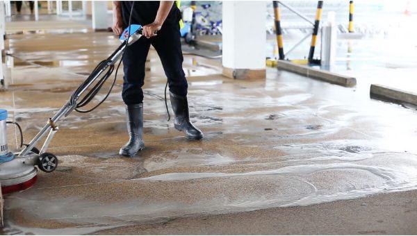 Mr. Dirt Blaster local partner Quality Plus Power Washing LLC pressure washing parking lot 0095
