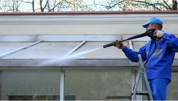 Mr. Dirt Blaster local partner Complete Power Washing pressure washing roofs 0044