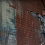 Graffiti Removal with Pressure Washing