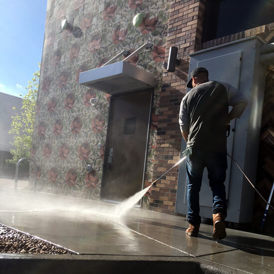 Commercial Concrete Surface Cleaning - Mr Dirt Blaster Pressure Washing
