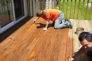 Deck Staining and Sealing After Power Washing in Dubuque, IA