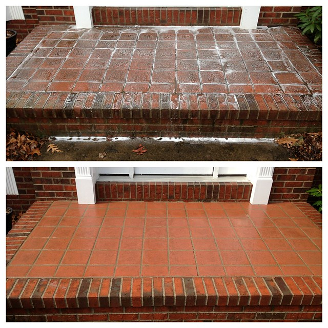 Mr Dirt Blaster Baton Rouge LA Before After Pressure Washing Brick