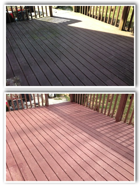 Mr Dirt Blaster Baton Rouge LA Before After Pressure Washing Patio