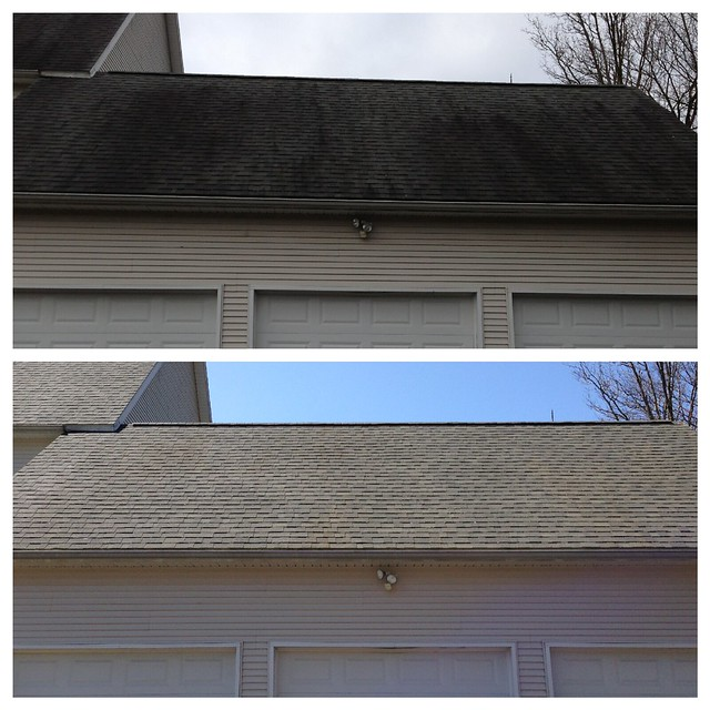 Mr Dirt Blaster Baton Rouge LA Before After Roof Cleaning
