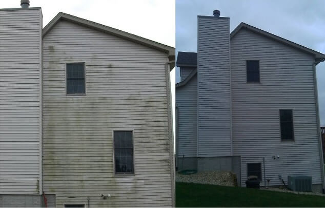 Mr Dirt Blaster Bloomington IL Before After Pressure Washing Siding