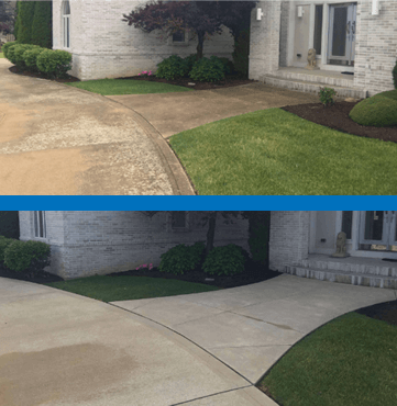 Mr Dirt Blaster Cleveland Power Washed Driveway Before After