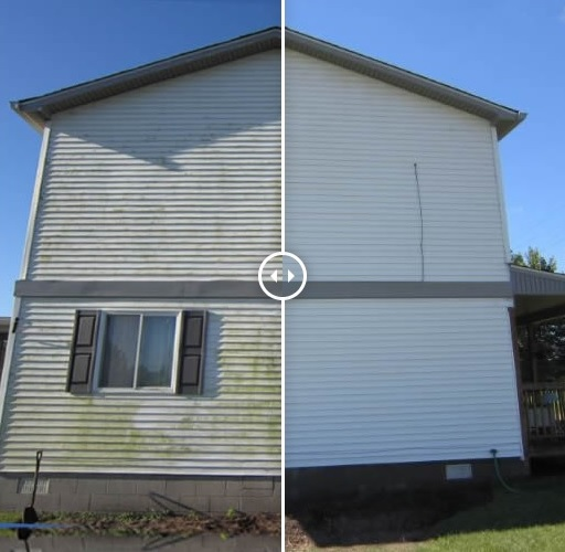 Mr Dirt Blaster Detroit Before After Pressure Cleaning Siding