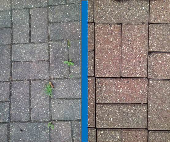 Mr Dirt Blaster Detroit Before and After Pressure Washing Paving Stones