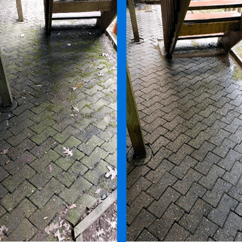 Mr Dirt Blaster Hartford Interlock Pavers Pressure Washed Before After