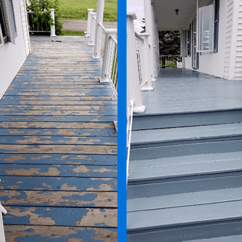 Mr Dirt Blaster Hartford Porch Deck Pressure Wash Before After
