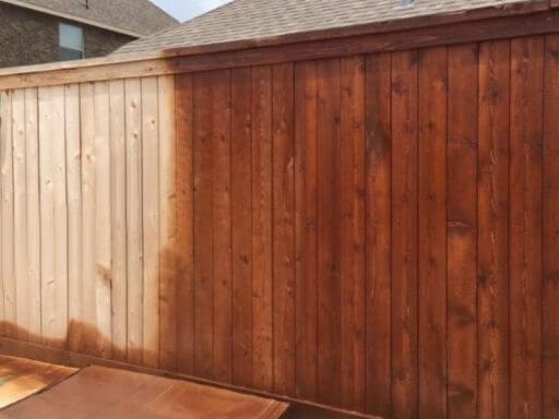 Mr Dirt Blaster Memphis TN Before After Pressure Washing Fence