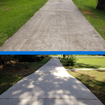 Mr Dirt Blaster Mobile Concrete Driveway Power Washing Before After