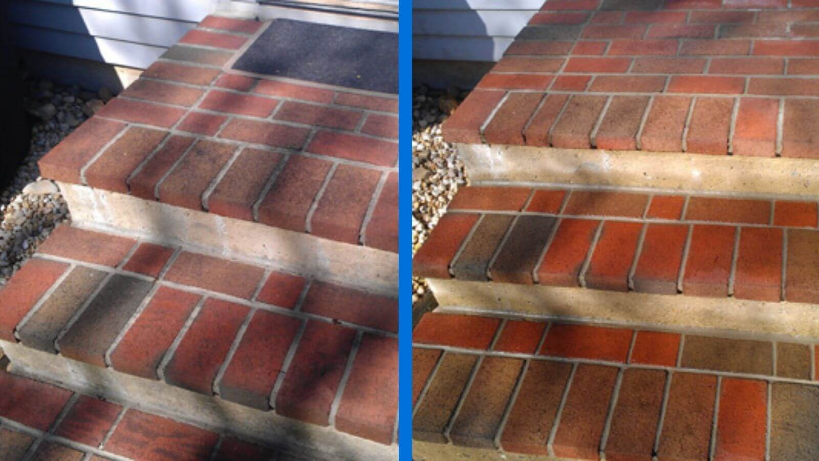 Mr Dirt Blaster Philadelphia PA Before After Brick Stairs Pressure Washing