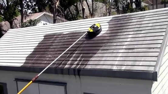 Power Washing Metal Shed Roof