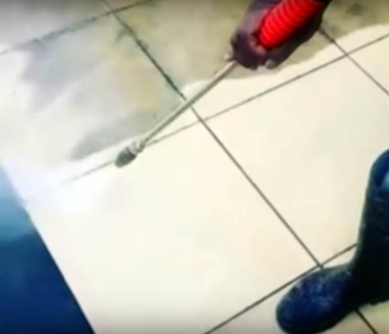 Pressure Washing Commercial Building Flooring
