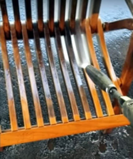 Mr. Dirt Blaster Pressure Washing Wood Patio Chair