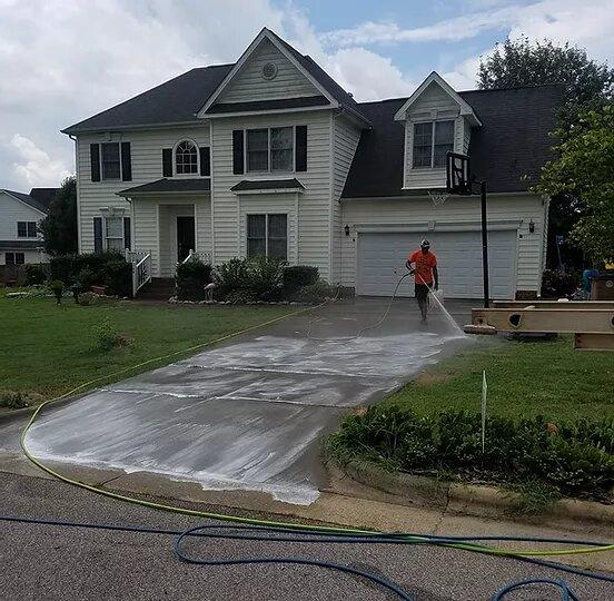 Mr Dirt Blaster Raleigh NC Pressure Cleaning Driveway