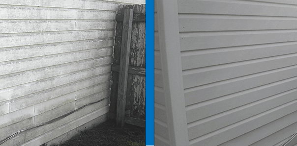 Power Washing House Siding Before and After