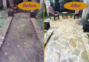Pressure Washing Omaha Concrete Before And After