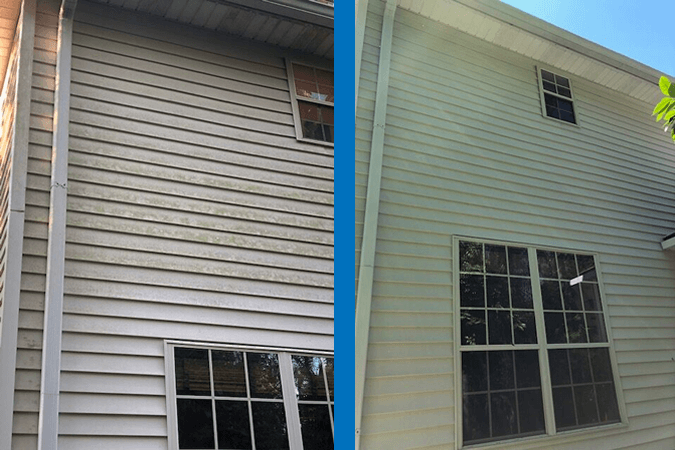 Pressure Washing Siding Before and After Mr Dirt Blaster Jacksonville FL