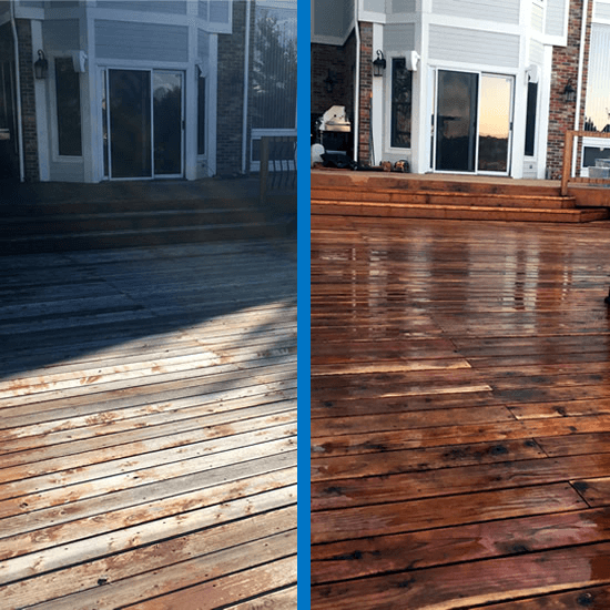 Deck Restoration and Sealing-Before and After-Castlerock-CO-Mr-Dirt-Blaster